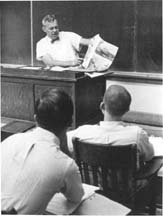 Chalmers Davidson in a classroom