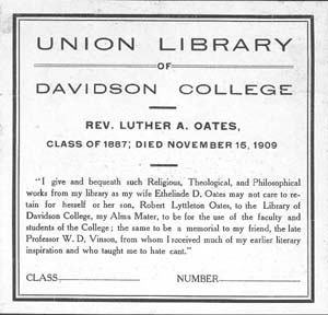 Union Library bookplate
