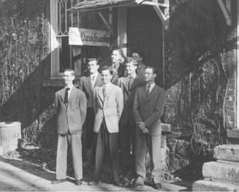 Editors outside Oak Row