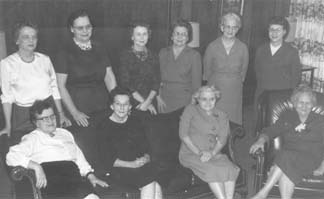 Group photo of dormitory housemothers, 1962