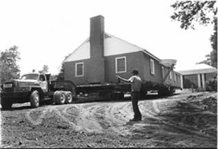 Building and truck