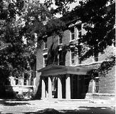 the front of the dormitory