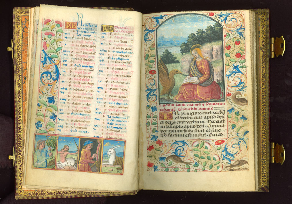 Illustrated pgs. 9-10 of the Bullard Book of Hours