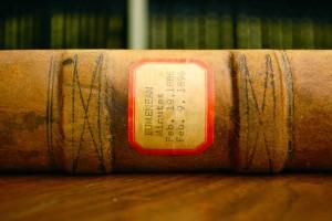 Eumenean Minutes book spine label