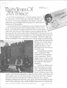 Scan of Davidson Journal article about Junior Year Abroad