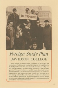 old flyer for the Foreign Study Plan