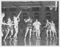 Basketball player making a shot