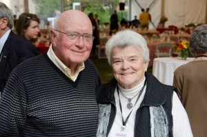 Will with Sue Ross, a steadfast friend during his last year, Bill Giduz, July 25, 2012.