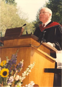 By contrast, many students' last point of contact with Dean Terry was his speech at commencement, Bill Giduz, May 1994.