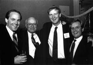 Will with attendees of the Campaign for Davidson, eventually called A Quiet Resolve, September 1991.