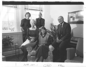 Dean Terry and the Dean of Students' Office personnel, 1986.