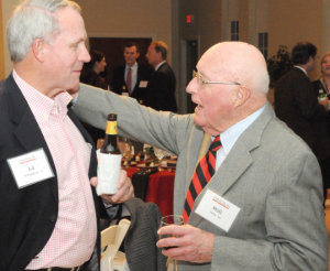 Will Terry reconnecting with an alumnus at homecoming, Bill Giduz, November 11th, 2012.
