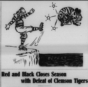 First Davidsonian cartoon -published before the college teams became the wildcats.