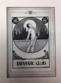 Display of Dramatic Club section in Quips and Cranks (1924)