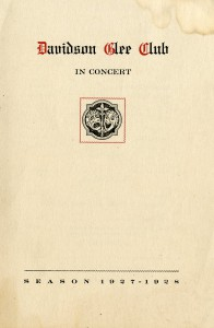 Program from a Glee Club Production (1928)