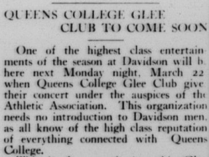 Excerpt from Davidsonian, March 17, 1915