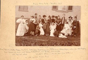 Fancy dress party at Colonel Martin's house, 1895