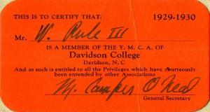 YMCA membership card