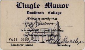 Lingle Manor Membership Card