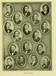 The men of the Kappa Alpha Order at Davidson circa. 1910, the same year the IFC was founded nationally.