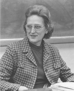 Photograph of Louise Nelson in 1983. Courtesy of the Davidson College Archives.