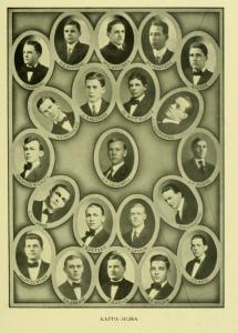 The men of Kappa Sigma at Davidson circa. 1910.