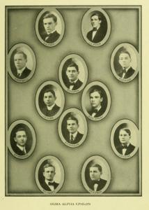 The men of Sigma Alpha Epsilon at Davidson College circa. 1910.