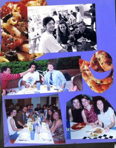 CoHo Scrapbook page displaying girls and boys enjoying food and fun at the house.