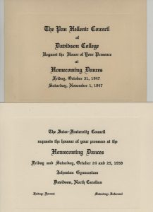 invitations from Pan-Hellenic and Interfraternity Council eras.