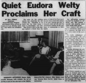 News article on Eudora Welty