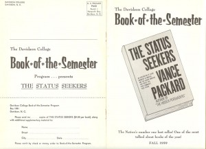 Flyer for Book of the Semester 1960