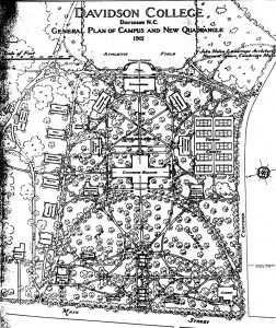 1916-1917 map of campus
