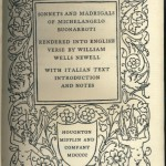 Sonnets and Madrigals 1900 - Title page