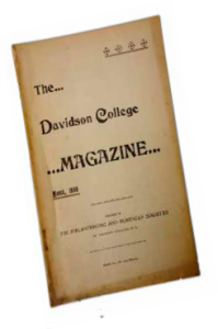 Davidson College Magazine cover March 1898