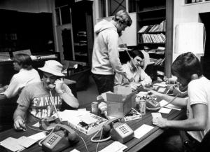 SGA volunteers on phones