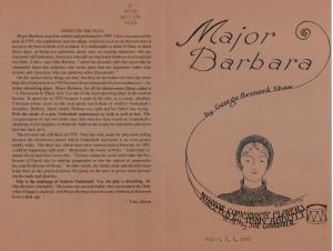 Major Barbara cover