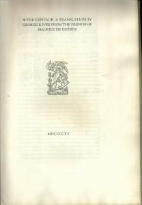 Centaur 1915 - Title page