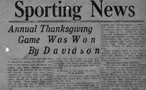 Headline from Sporting News, November 28, 1913