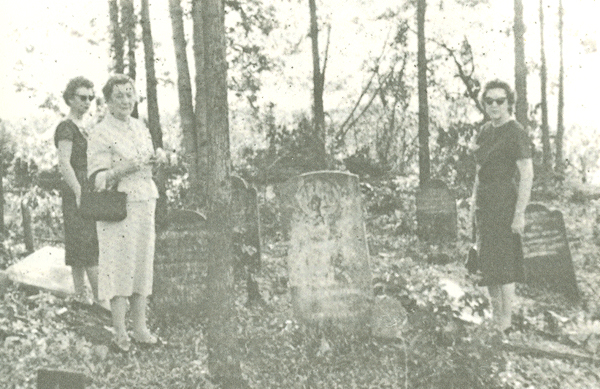 Original site of Baker Cemetery