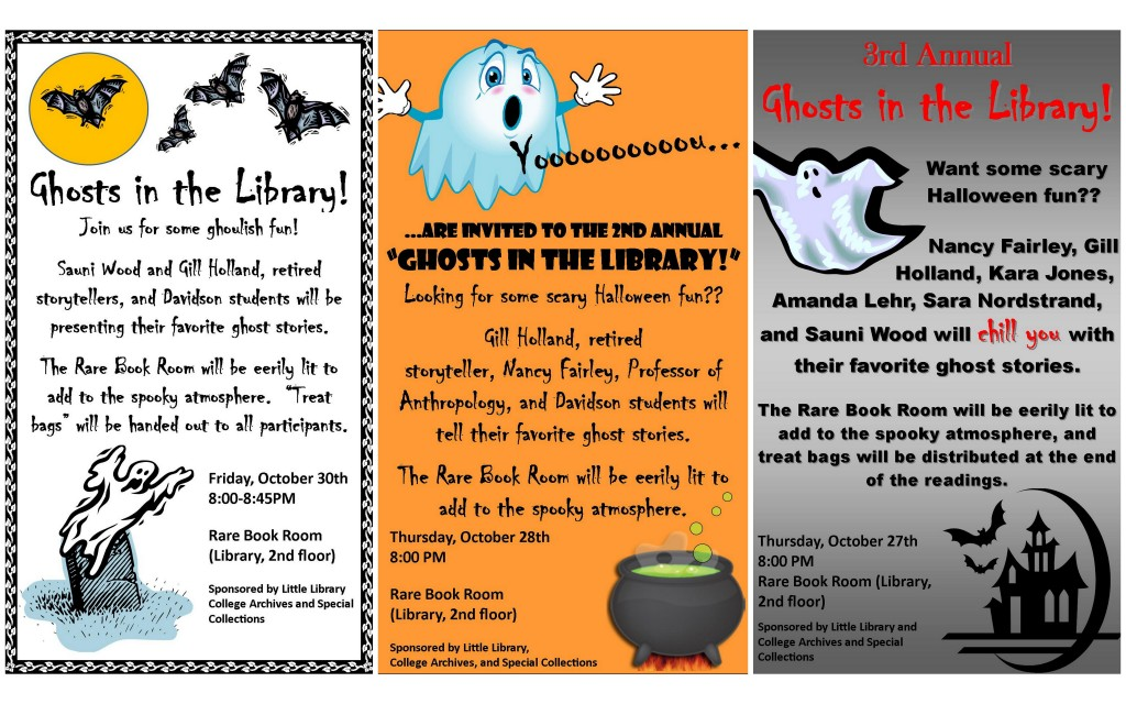 Posters from the first three years of Ghosts in the Library (2009 - 2011)