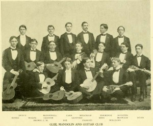 Glee Club in 1897 - incorporating the Guitar and Mandolin club