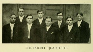 Members of the Double Quartette in 1907