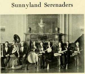 The Sunnyland Serenaders, Guitars and Mandolins gave way to banjos, drums and sax