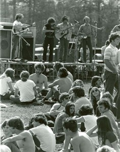 Outdoor concert during 1975 Spring Frolics.