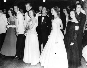 Students and dates at the 1947 formal.