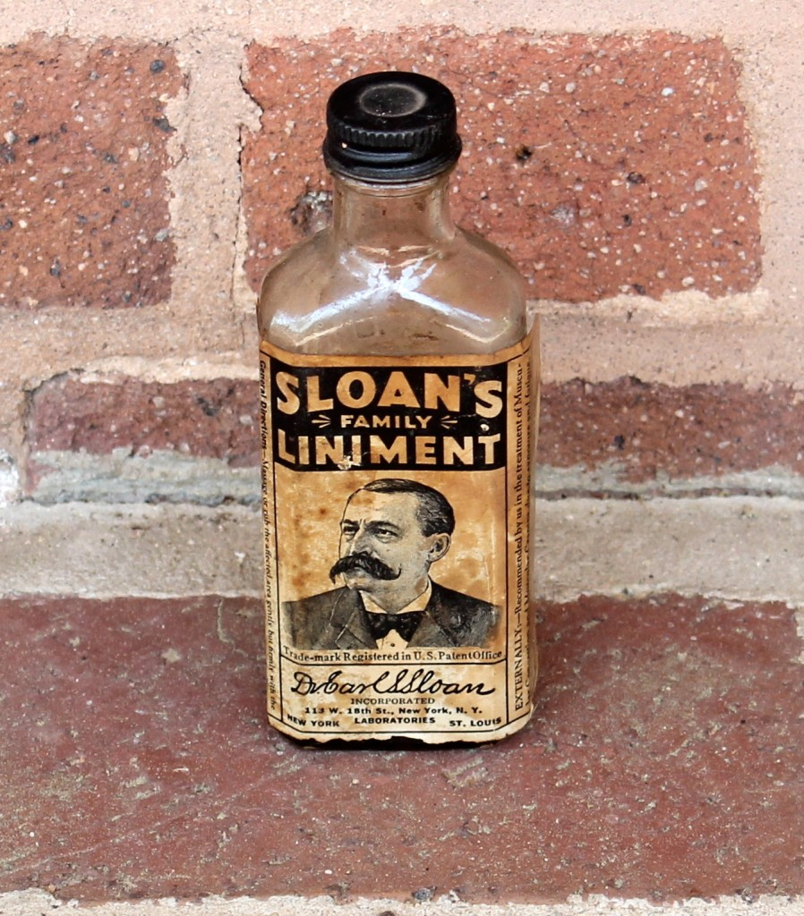 Sloan's Family Liniment: good for both animals and people!