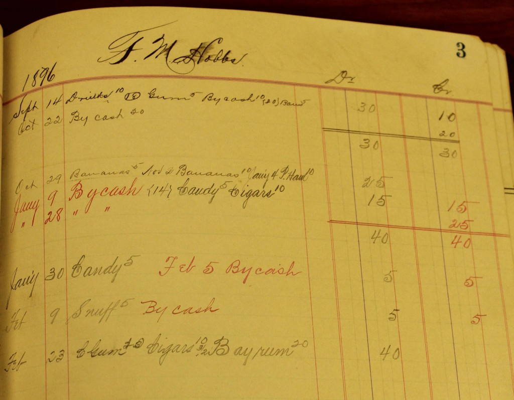 F.M. Hobbs' account for 1897.