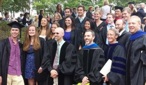 Environmental Studies majors and faculty at the 2014 commencement