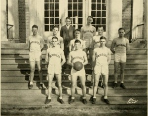 1929 team on steps of Alumni Gym