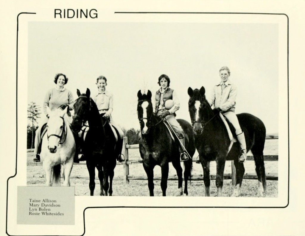Davidson's Riding Club, from Quips & Cranks 1980.